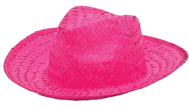 Promo Strohoed Roze acc. Roze