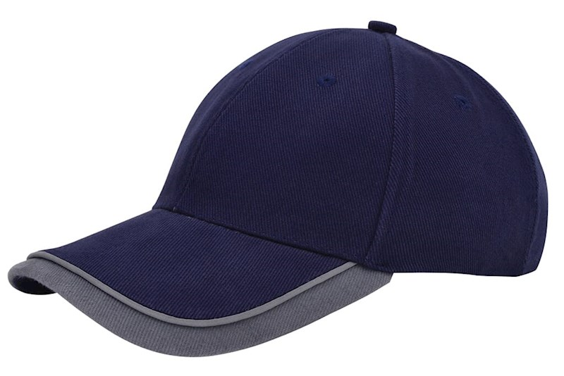 Double Peak Cap Navy acc. Grijs