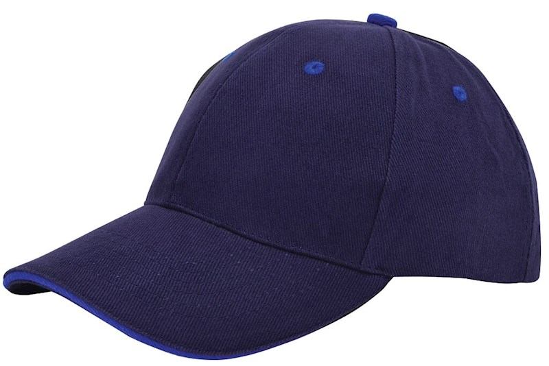 Brushed Sandwich Cap Navy acc. Royaal