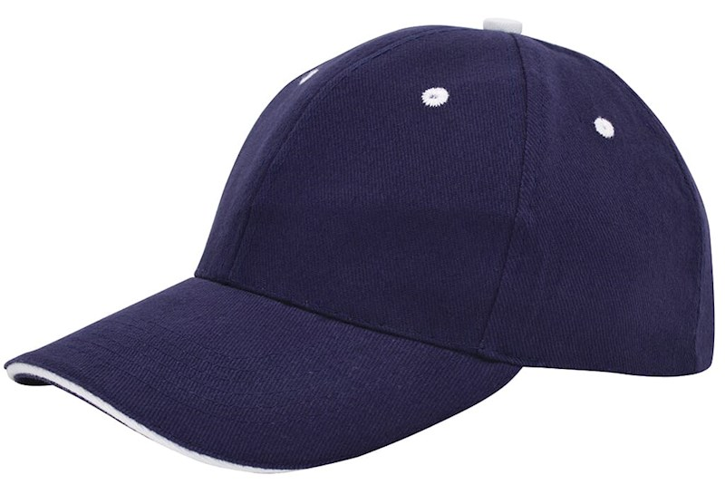 Brushed Sandwich Cap Navy acc. Wit