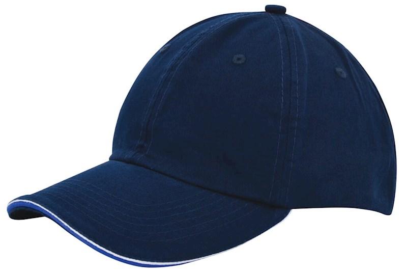 Duo Colour Sandwich Cap Marineblauw acc. Kobalt