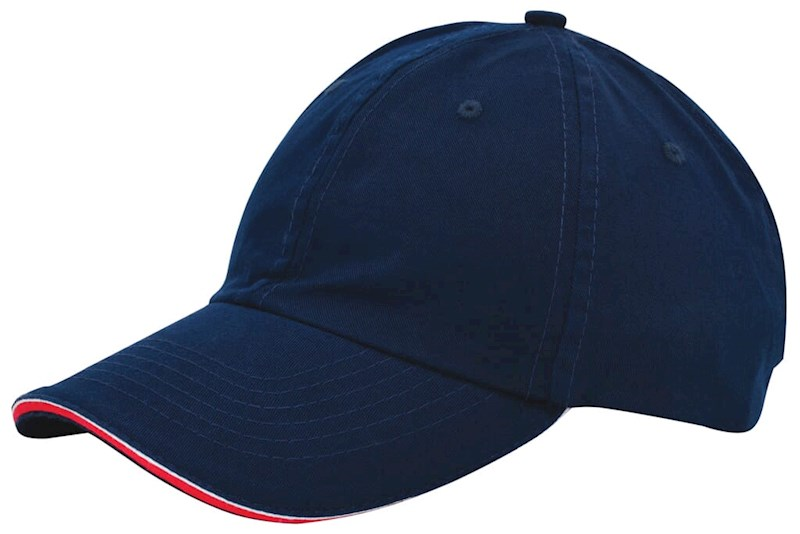 Duo Colour Sandwich Cap Marineblauw acc. Rood