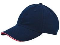 Duo Colour Sandwich Cap Marineblauw acc. Rood