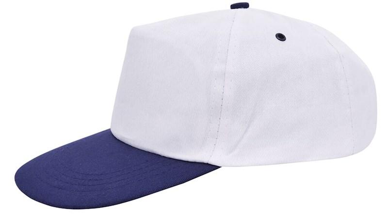 Promo Cap Wit acc. Navy