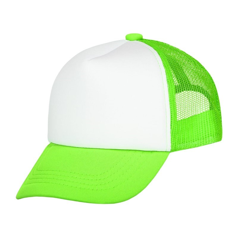 Original Kids Trucker Cap Lime Groen acc. Wit