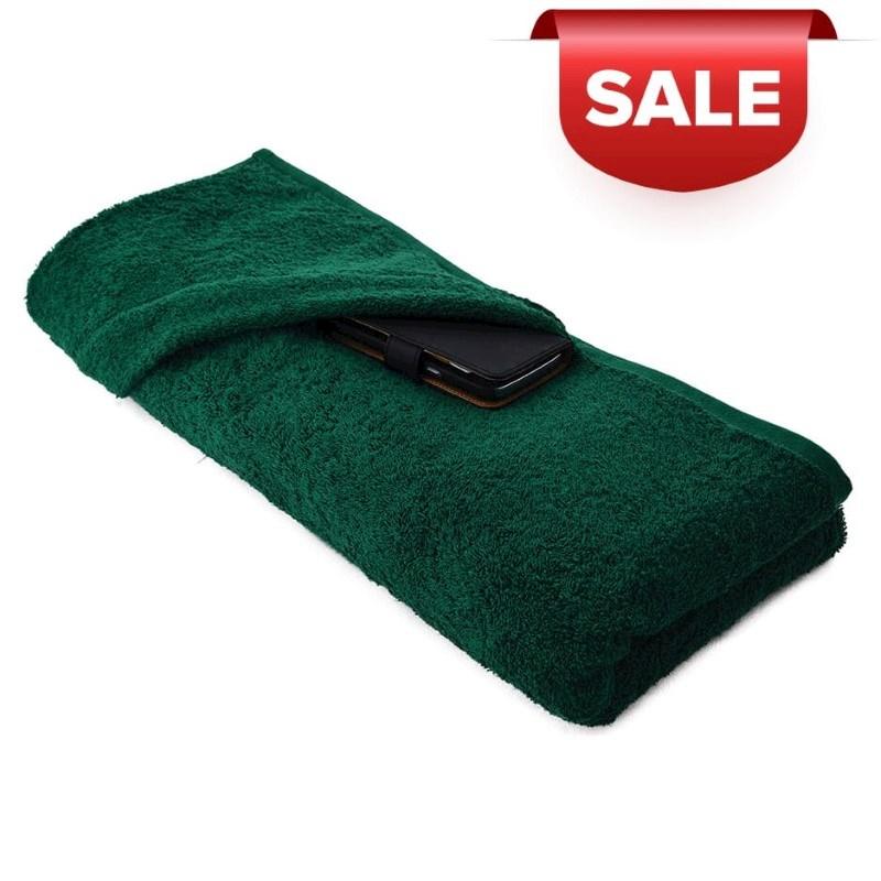 Strandlaken 180*100cm, 550 gr Donker Groen acc. Donker Groen