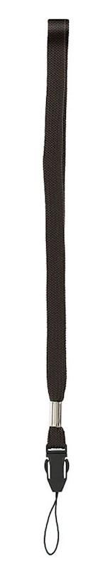 Telefoonkoordneklint (1,3 cm) Zwart acc. Zwart