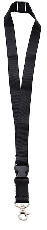 Neklint 2cm met safety break Zwart acc. Zwart