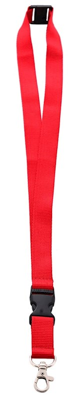 Neklint 2cm met safety break Rood acc. Rood