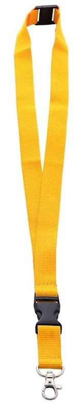 Neklint 2cm met safety break Geel acc. Geel