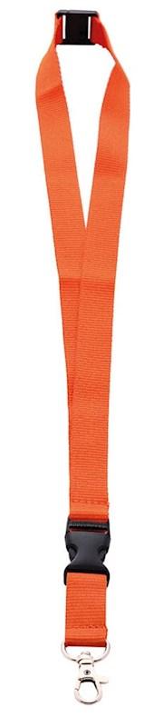 Neklint 2cm met safety break Oranje acc. Oranje