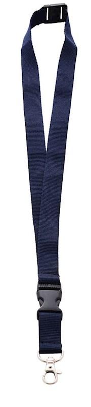 Neklint 2cm met safety break Marine Blauw acc. Mar