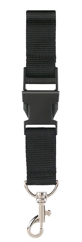 Neklint 2,5 cm met veiligheidssluiting Zwart acc.Zwart