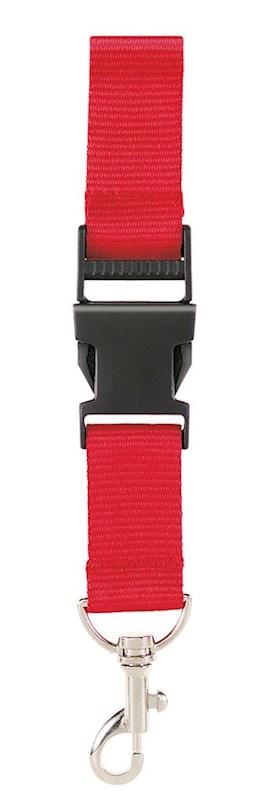 Neklint 2,5 cm met veiligheidssluiting Rood acc. Rood