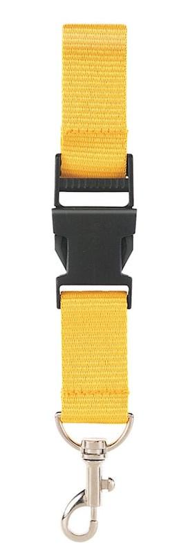 Neklint 2,5 cm met veiligheidssluiting Geel acc. Geel