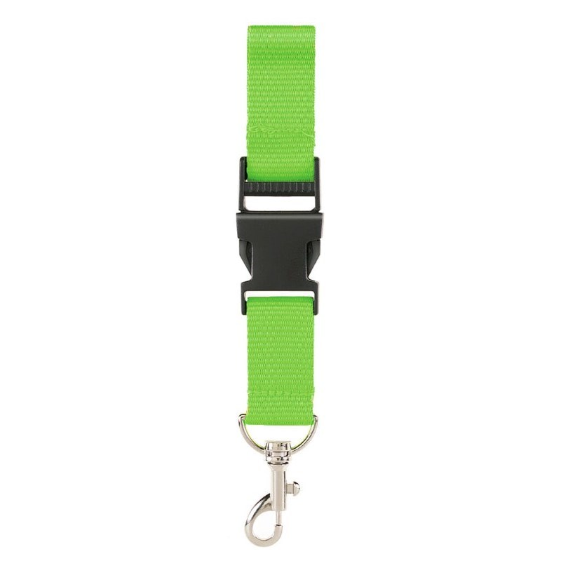 Neklint 2,5 cm met veiligheidssluiting Groen acc.