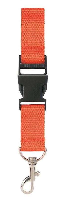 Neklint 2,5 cm met veiligheidssluiting Oranje acc.