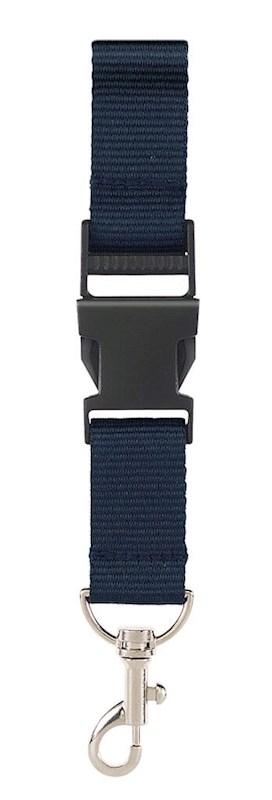 Neklint 2,5 cm met veiligheidssluiting Navy acc. N