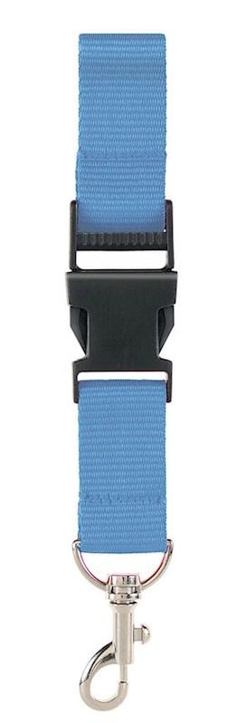 Neklint 2,5 cm met veiligheidss Licht Blauw acc. L