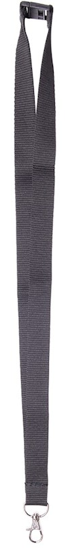 Neklint 2 cm met veiligheidssluiting Zwart