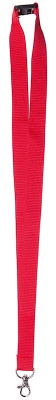 Neklint 2 cm met veiligheidssluiting Rood