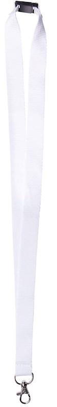 Neklint 2 cm met veiligheidssluiting Wit