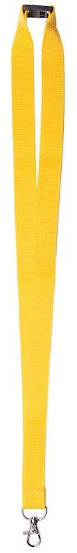 Neklint 2 cm met veiligheidssluiting Geel