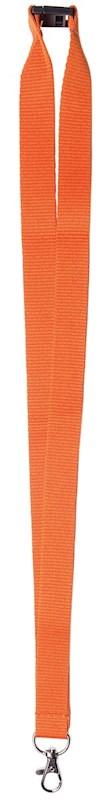 Neklint 2 cm met veiligheidssluiting Oranje