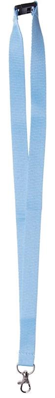 Neklint 2 cm met veiligheidssluiting Lichtblauw