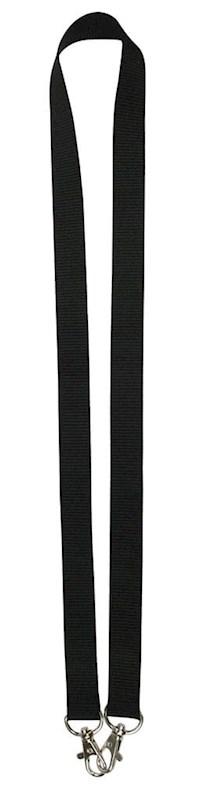 Neklint 2cm met twee haken Zwart acc. Zwart