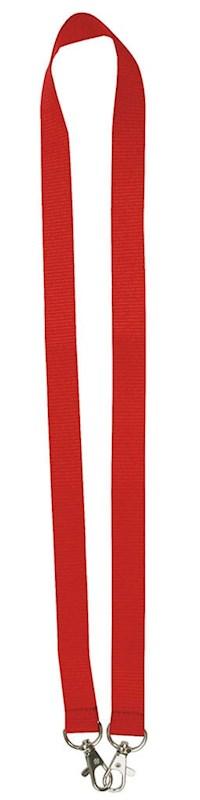 Neklint 2cm met twee haken Rood acc. Rood