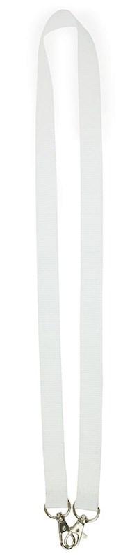 Neklint 2cm met twee haken Wit acc. Wit