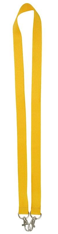 Neklint 2cm met twee haken Geel acc. Geel