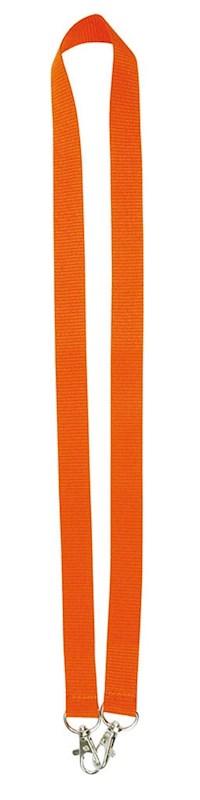 Neklint 2cm met twee haken Oranje acc. Oranje