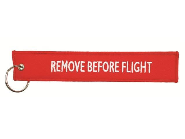 Remove before flight Hangtag 18*3 cm Rood acc. Roo