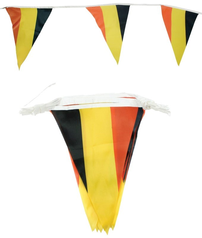 Polyester Vlaggenlijn (6,5 meter / 15 vlaggen) Belgie