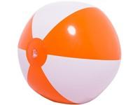 Strandbal 16 Inch Leeg Oranje acc. Wit