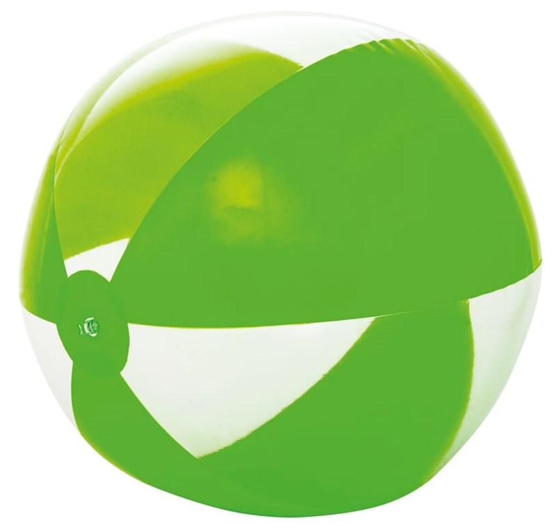 Strandbal 21inch leeg Groen acc. Transparant