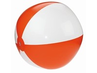 Strandbal 21Inch Leeg Oranje acc. Wit