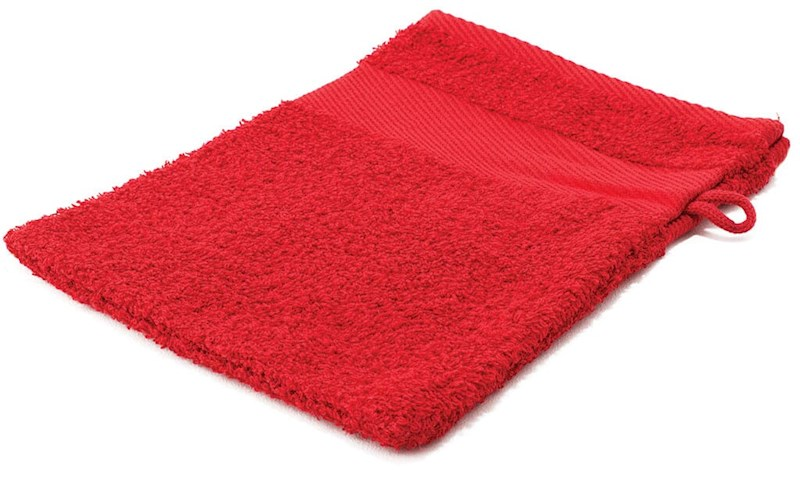 Sophie Muval Washand 21x16cm, 450 gr/m2 Rood acc.Rood