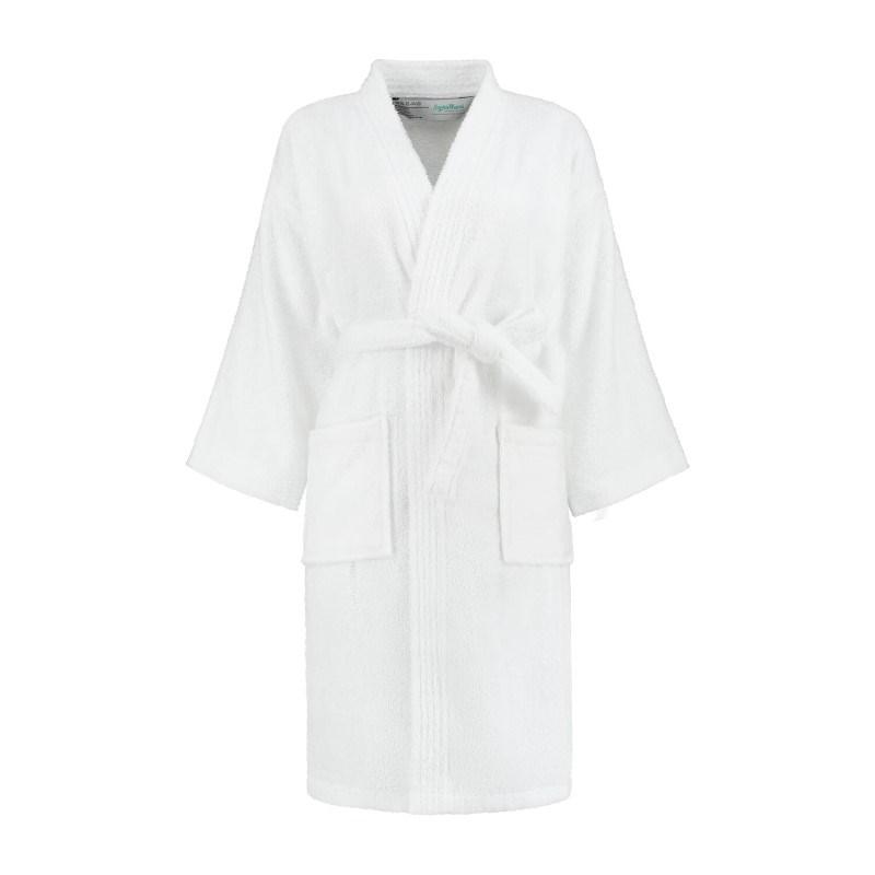 Sophie Muval Badjas Kimono Model 380 gr/m2 Wit S/M