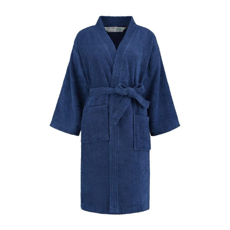 Sophie Muval Badjas Kimono Model 380 gr/m2 Marineblauw S/M
