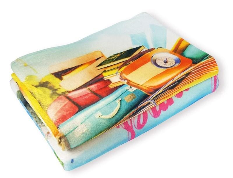 CM Velours Handdoek 30x50cm met reactive print,420 gr/m2
