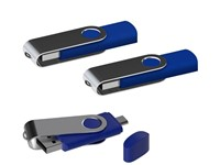 USB stick Twister met Micro USB blauw 4Gb