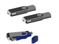 USB stick Twister met Micro USB grijs 8Gb