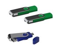 USB stick Twister met Micro USB groen 8Gb