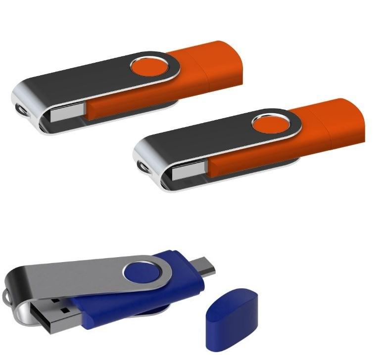 USB stick Twister met Micro USB oranje 8Gb