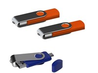USB stick Twister met Micro USB oranje 64Gb