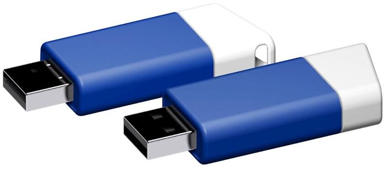USB stick Flow 2.0 wit-blauw 32GB