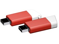 USB stick Flow 3.0 wit-rood 16GB